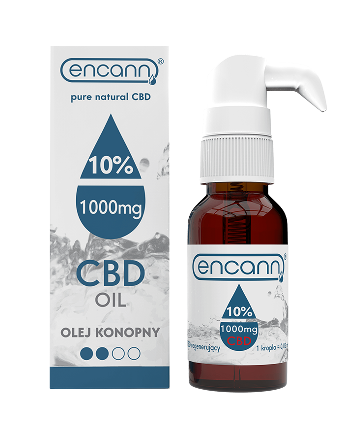 Medium strength hemp oil made with European hemp
